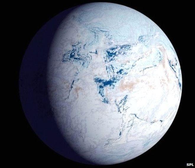 Земля - снежок