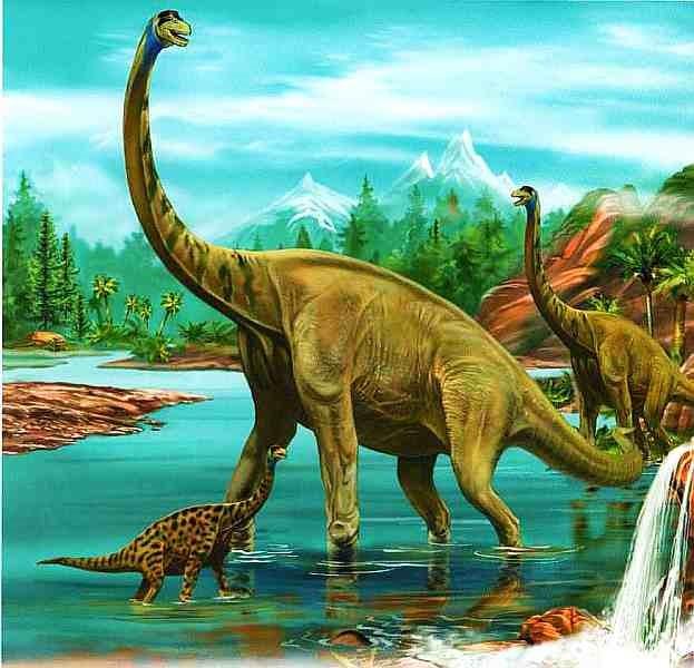 Рисунок Брахиозавра