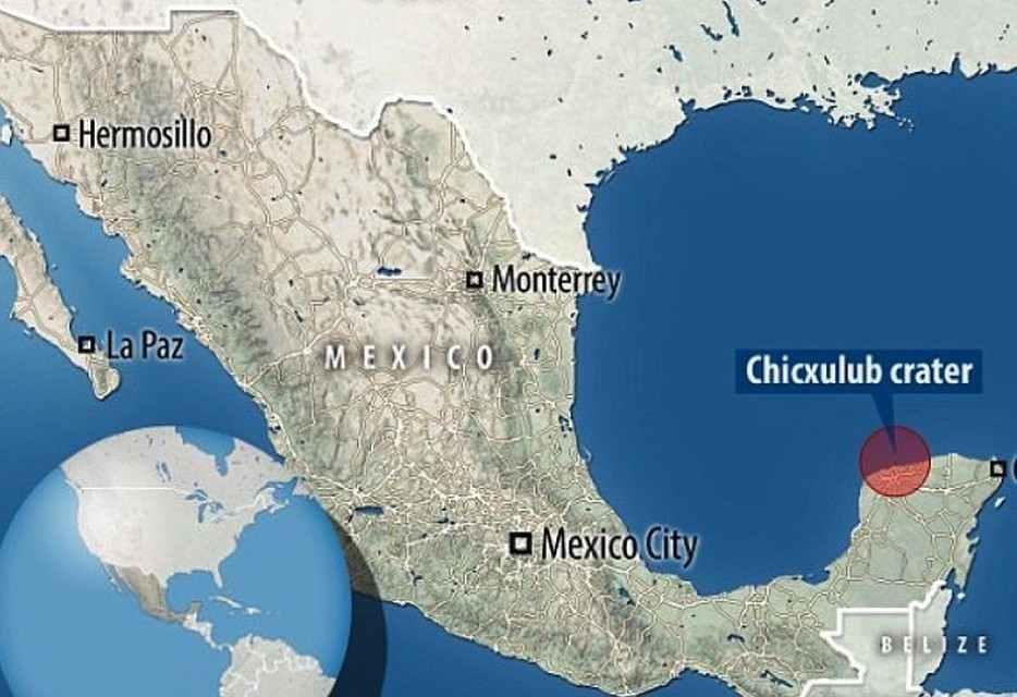 Кратер Чиксулуб Мексика