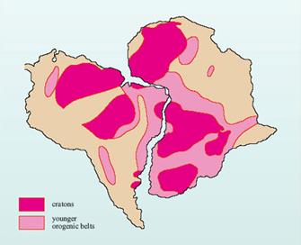 Расположение докембрийских пород