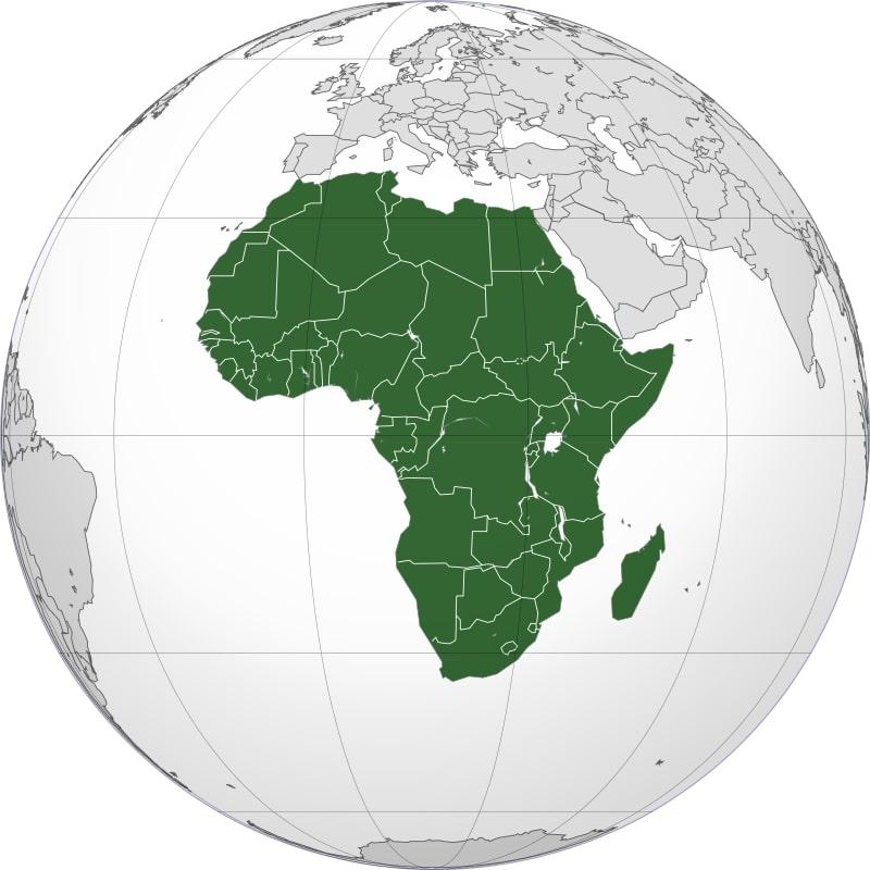 Африка на глобусе