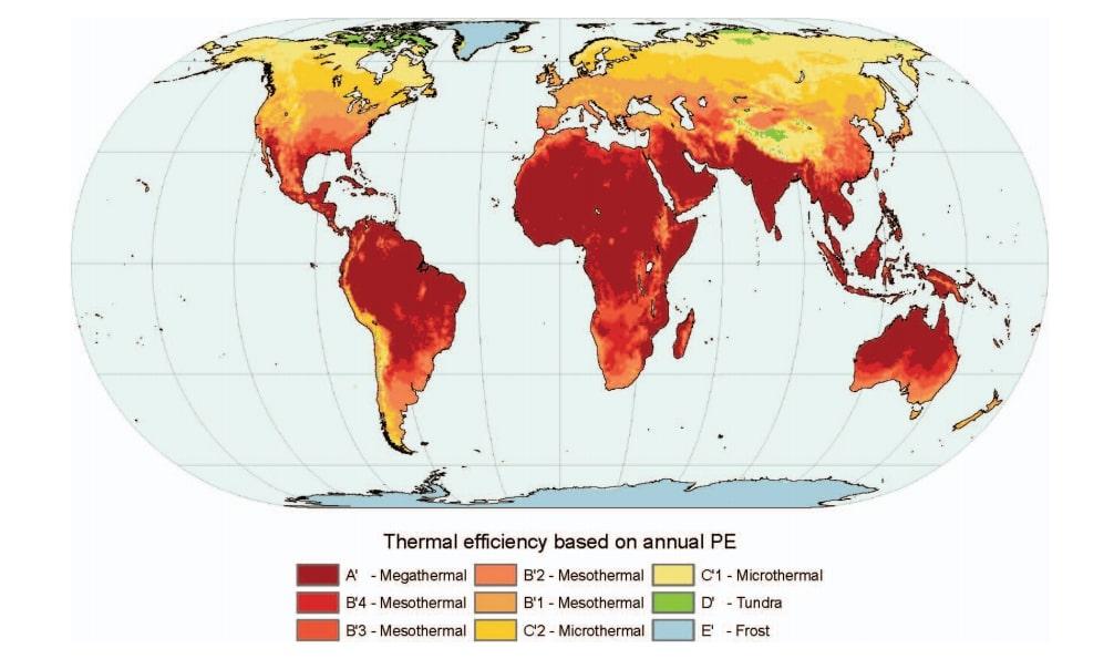 Климатические зоны Торнтуэйта