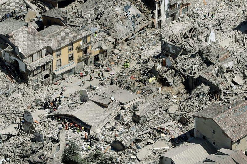Землетрясение в Италии, Аматриче