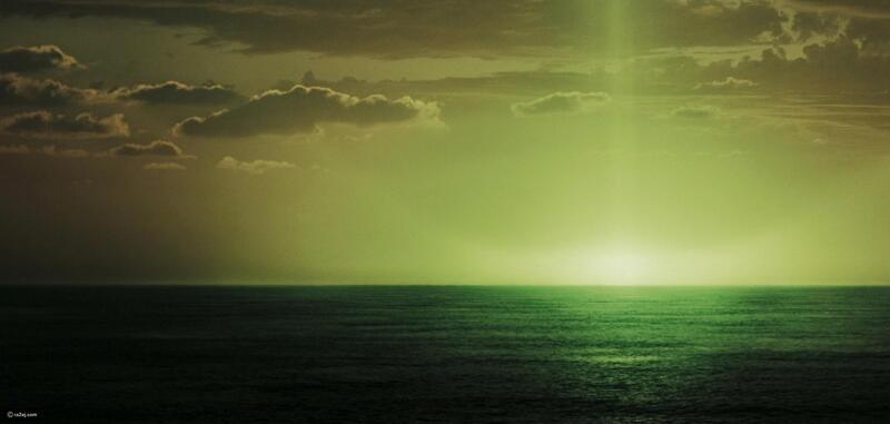 """Оптическое явление - """"Зеленый луч"""""""