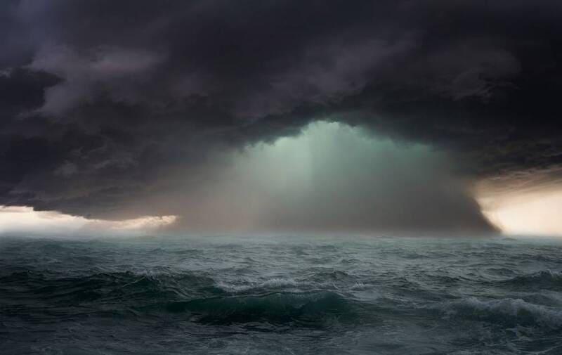 Ураган на море