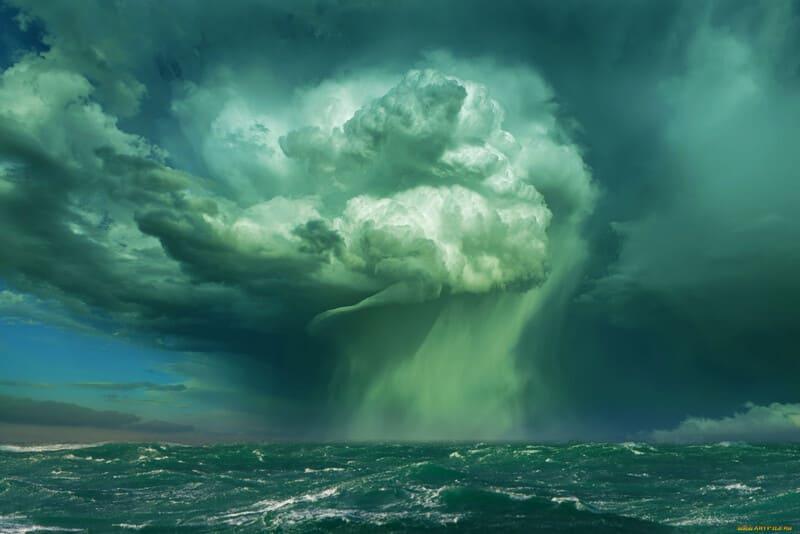 Вихрь на море