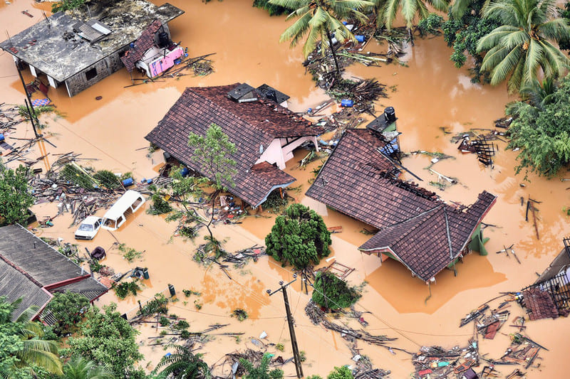 Шри-ланка. Наводнение