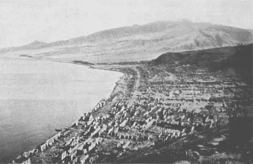 Сен-Пьер после извержения